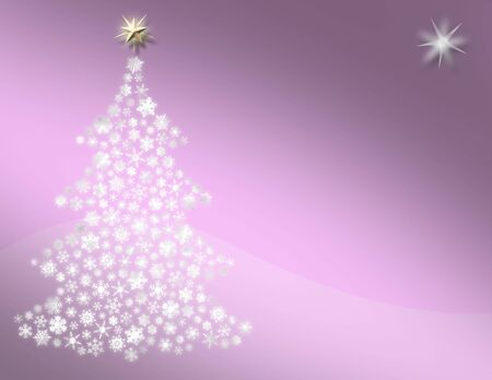 Sweet Pink Christmas Tree Background Stock Photo