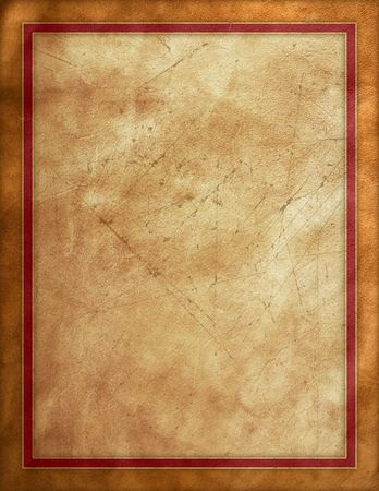 old leather: Rough textured brown backgroun with red