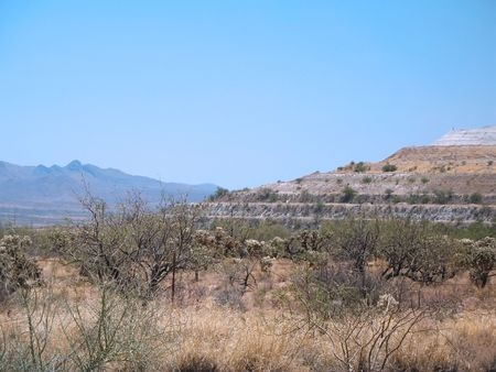 western usa: Western USA desert mine  Stock Photo