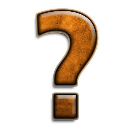 Individuels isolés? question symbole en cuir brun  Banque d'images - 2816526