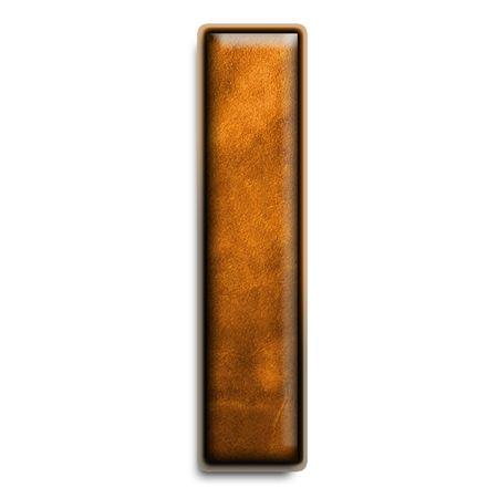 La lettre L minuscule en cuir brun isolé sur blanc Banque d'images - 2838110