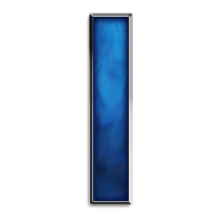 Minuscules l Smokey bleu acier isolé sur blanc Banque d'images - 2855613