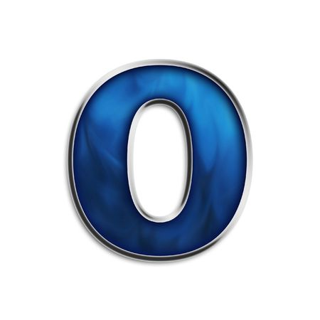 Lowercase o steel smokey blue isolated on white