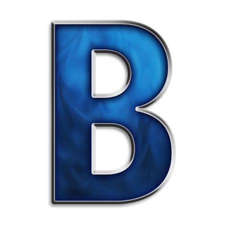 Kapitaal b vet, tekst, brand, blauw, coma, marine, semi punt, 3d, kleine, dubbele punt, fiery, wit, staal, logo, vloei stof, stam, chroom, metaal, rokerige, vlam, lees tekens, achtergrond, afzonderlijke, metaal, geïsoleerd, bit map patroon, asterik, serie, periode, symbool, smokey Stockfoto