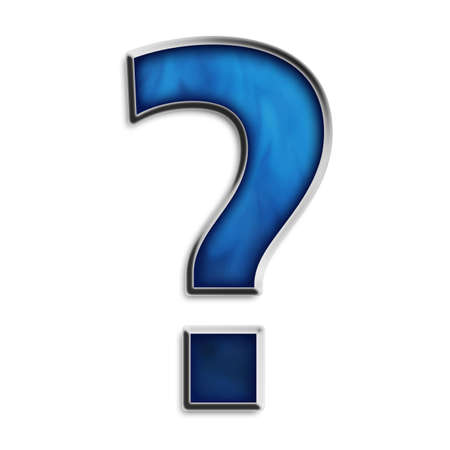 Question mark in smokey blue series Stock Photo - 2855652