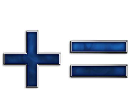 Además signo igual y en azul ahumado serie  Foto de archivo - 2855669