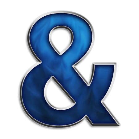 Ampersand in smokey blue series photo