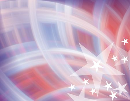 elect: Red, white & blue with stars abstract background