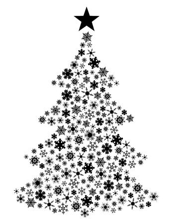 Vector Schneeflocke Weihnachtsbaum  Standard-Bild - 3029732