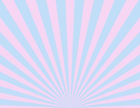 Roze andamp, amp, blauwe sunburst patroon achtergrond