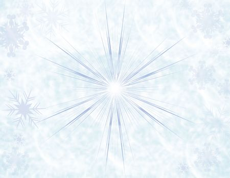 hanukah: Winter blue snowflake textured background Stock Photo