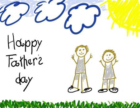 sun s: Happy Father's Day bambino disegno