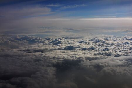 atmosphere: View of clouds in atmosphere Stock Photo