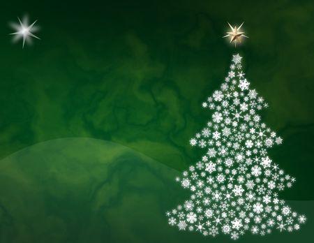 녹색 추상 크리스마스 트리 배경