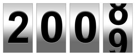 2008 ending 2009 beginning dial Stock Photo