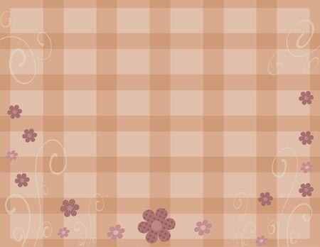 mauve: Mauve floral plaid background Stock Photo