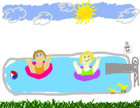 Summer swimming pool party Stock Photo - 3229414