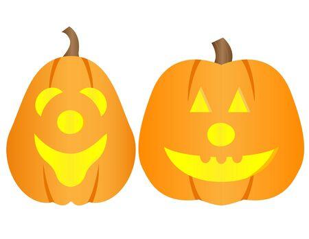 Happy Halloween Pumpkins Stock Photo