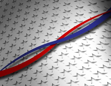 Silver USA Patriotic Background Stock Photo