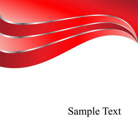 Vector roten Wellen Standard-Bild - 3618913