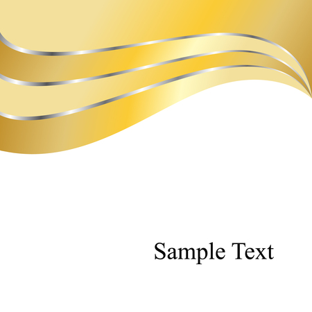 Vector Golden Waves Stock Vector - 3618914