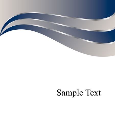 Vector Navy & Silver Waves