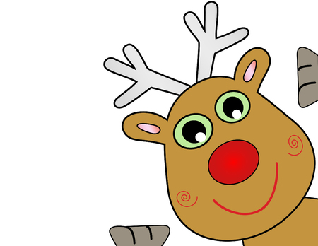 red deer: Vector Christmas Reindeer