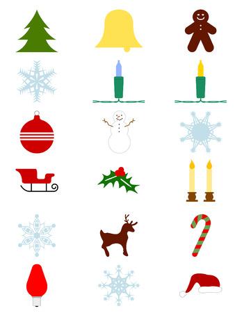 Weihnachts-Vector-Elemente mit nahtlosen Mini Lights Standard-Bild - 3624634