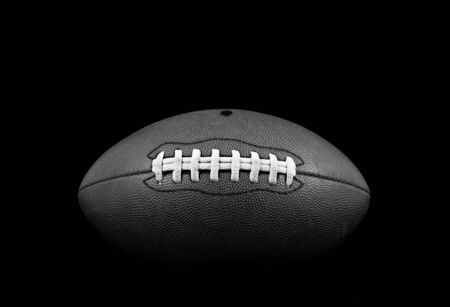 B&W Front View of Football Stock Photo