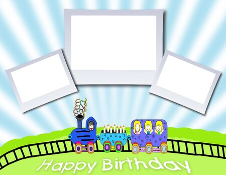 Happy Birthday Picture Frame Background photo