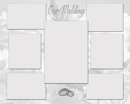 Platinum collage of wedding pictures background photo