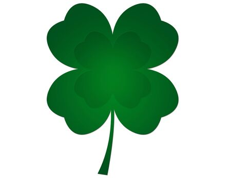 three leaves: Shamrock illustration Stock Photo