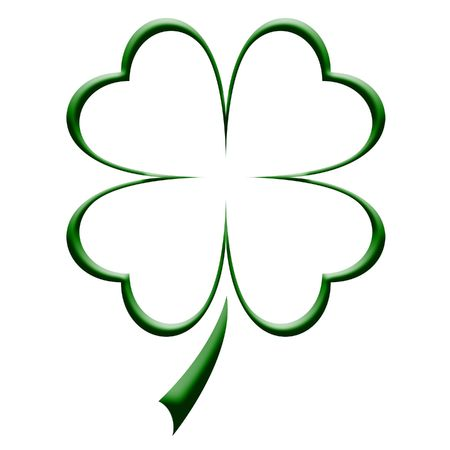 three leaves: Four leaf clover illustration