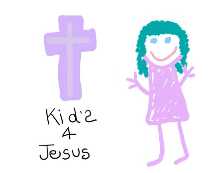 Christian drawing of childs belief in Jesus
