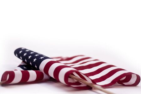american flags: American Flags on White Background