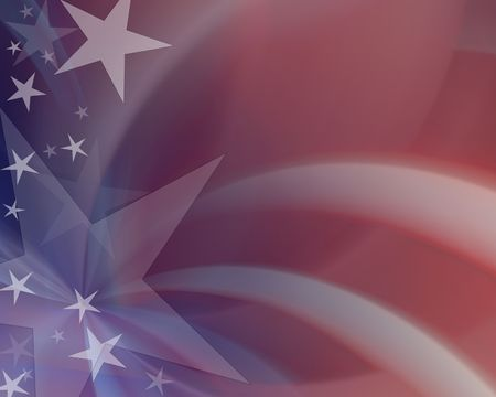 vote: Red white & blue abstract background Stock Photo