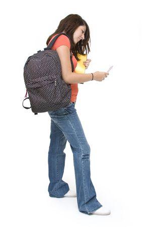 Besetzt Teenager-Mädchen SMS Standard-Bild - 5203824