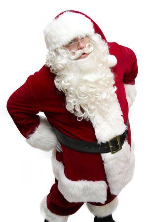 Santa Claus looking up at you Stock Photo