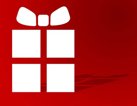 Christmas gift on red with plenty of copyspace Stock Photo - 5273216