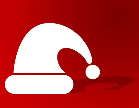 Santa's hat on red with plenty of copyspace Stock Photo - 5273212