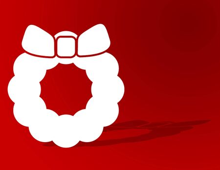 Christmas wreath with plenty of copyspace Stock Photo - 5273217