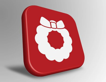 Christmas wreath icon Banco de Imagens