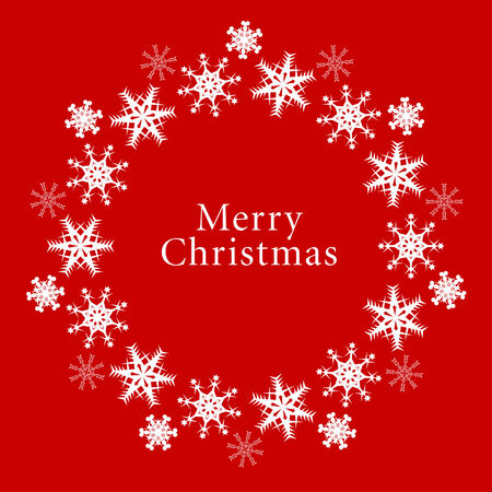 Vector  snowflake Christmas background