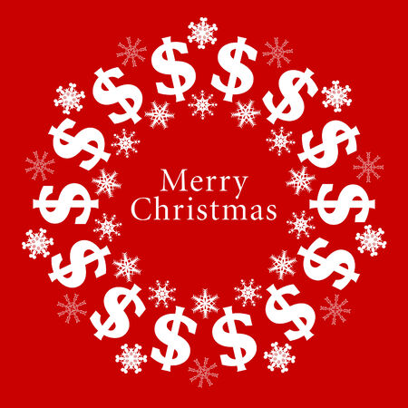 circling: Vector Merry Christmas sign