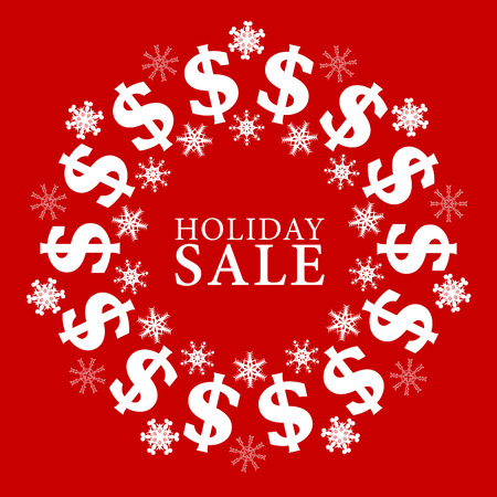 holiday: Vector American dollar holiday sale sign