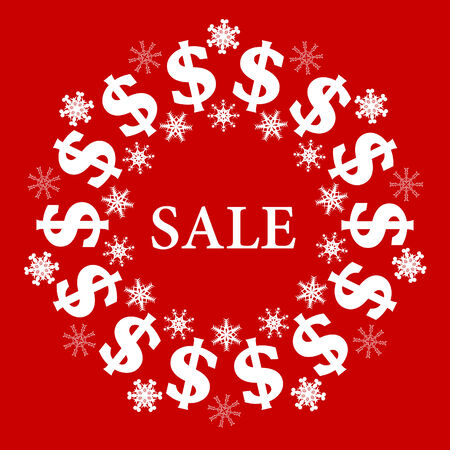 Vector Red Sale Sign Stock Vector - 5295308