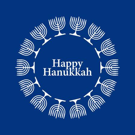 Vector Menorah Hanukkah Background Stock Vector - 5295314