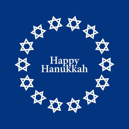 star background: Vecotr Star of David Hanukkah Background