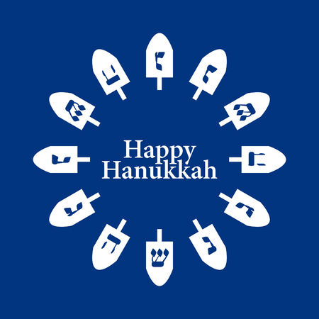 dreidel: Vector Dreidel Hanukkah Background