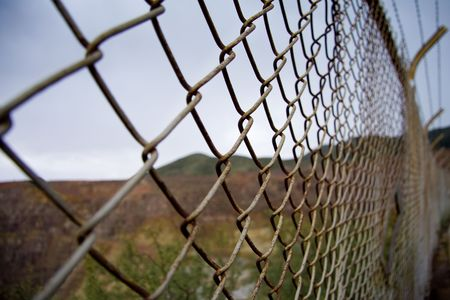 Desert border fence photo
